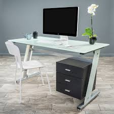 Black Glass L Shaped Desk by Glass Computer Desk With Drawers U2013 Glass Computer Desk With