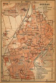 Wittenberg Germany Map by Dessau 1910 Full Size