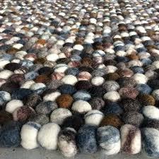 pebble rug wool pebble rugs stone felt ball rug felted newyeargreetings co