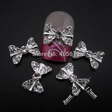 aliexpress com buy new glitter 6 8mm ab rhinestones 3d bows nail