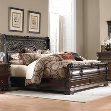 Bedroom Furniture Sets King Uk Queen Size Sleigh Bed Frame Monticello 6piece Bedroom Set Pecan