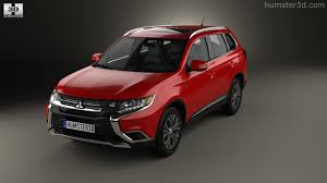 mitsubishi crossover 2015 360 view of mitsubishi outlander 2015 3d model hum3d store