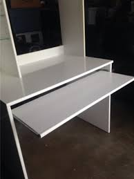 Ikea White Desk Table by Ikea Hannes White Desk With Light And Glass Shelves For Sale In