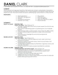 Create Resume Sample Resume Of Data Entry Clerk Create My Resume Data Entry