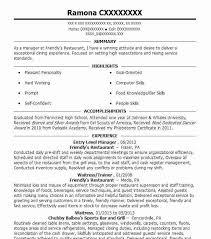 Resume Entry Level Examples Amazing Decoration Example Of Entry Level Resume Surprising Ideas