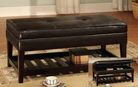black leather ottoman coffee table coffee table