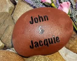 engraved our family rocks garden stone name rocks for