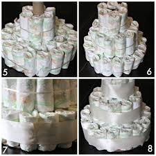 baby shower diaper cake tutorial katie did what