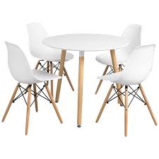 Ebay Dining Room Sets Dining Table And Chair Set With 4 Eiffel Seats Black White