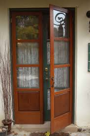 furniture brown wooden small french double door with one panel
