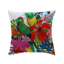coussin imprime de coussin coton imprimé tropical