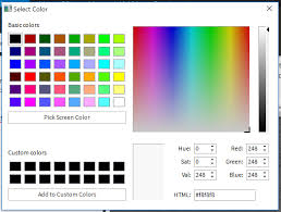 color selection more colors rgb selection window doesn t have an ok button studio