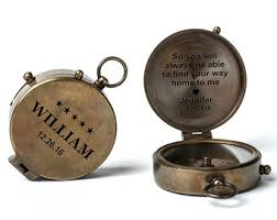 engravable items engraved compass etsy
