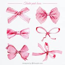 pink bows watercolor pink bows vector free