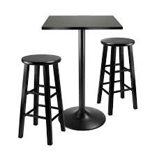 Set Table by Amazon Com Winsome Obsidian 3 Piece Pub Table Set Table
