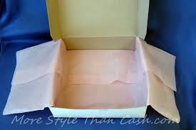 how to use tissue paper in a gift box a gift professionally