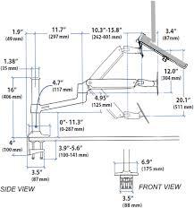 sit stand desk mount laptop arm ergodirect ed nb lx2dm