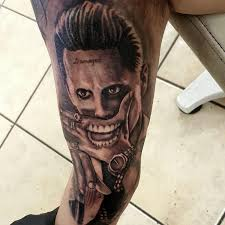 joker tattoo video joker tattoo portrait new joker batman movie suicide squad by george