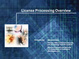 bureau of industry security ncl license processing overview bernard kritzer director office of
