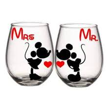 his and hers glassware shop mr and mrs wine glasses on wanelo