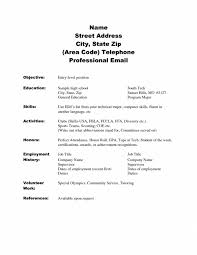 cover letter resume samples for high students with no