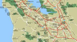 Cupertino Map South Bay Palo Alto U2022 Mapsof Net