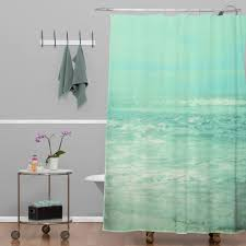 lisa argyropoulos where ocean meets sky shower curtain bathroom