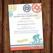 cyclist road bike party invitation cyclist bicycle