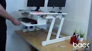 standing desk from sitting to standing in seconds youtube
