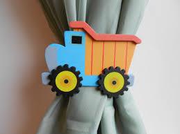 Curtain Tie Backs For Nursery Dump Truck Curtain Tie Backs Nursery Decor By Tonyaandjoshua