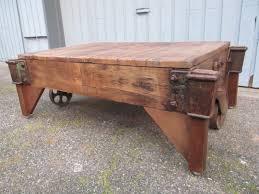Coffee Table Into Bench Repurposed Railroad Cart Reuse Repurpose Upcycle Coffee Table Into