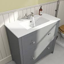 Bathroom Sink And Vanity Unit by The Bath Co Camberley Grey Vanity Unit With Basin 800mm