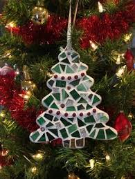 tree ornament stained glass tree mosaic hanging accent