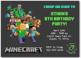minecraft birthday invitations princess and the peas