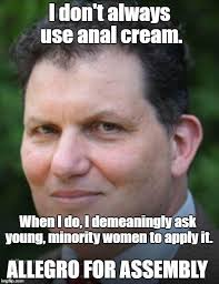 Asian Women Meme - gop assembly candidate john allegro asks a woman to rub his anus