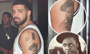 permanent tribute drake tattoos lil wayne u0027s face on his arm