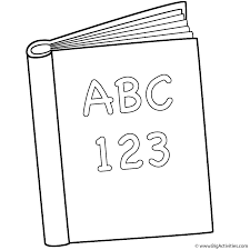 abc and 123 book coloring page back to