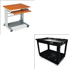 Rubbermaid Computer Desk Mayline Empire Mobile Pc Cart Mln945mec Shoplet Com
