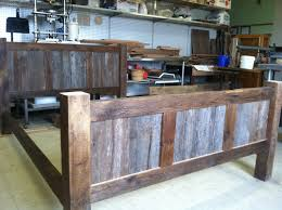 reclaimed pine bedroom furniture reclaimed wood bed frame bed frame is constructed from solid