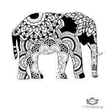 boho elephant elephant tattoo henna style tattoo festival