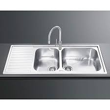 Smeg Kitchen Sink Smeg Alba Lg116s 2 Inset Sink Bowl Single Left Drainer