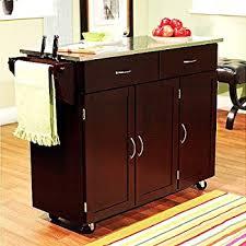 rolling island kitchen amazon com homcom rolling kitchen island storage cart w drop