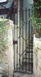 metal garden gate doors home outdoor decoration
