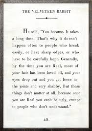 velveteen rabbit nursery velveteen rabbit quote vintage print with grey wood frame
