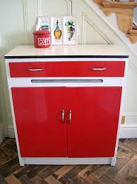 Retro Cabinets Kitchen by Funky Retro 1950s 60s Red White Vintage Kitchen Cupboard Cabinet