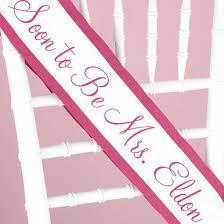 custom sash custom personalized sash personalized sashes bridal party