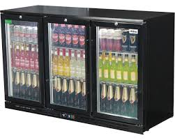 glass door bar fridge rhino lg compressor alfresco glass door 330l black bar fridge sg3h