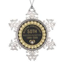 wedding anniversary ornaments 50th wedding anniversary ornaments keepsake ornaments zazzle