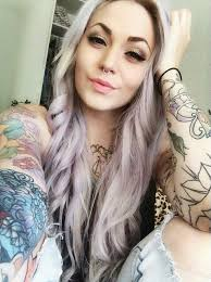 tattoo inked blonde tattoos and wild color hair pinterest