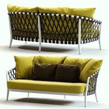 Yellow Sofa Bed 3d Model Bb Italia Erica Grey And Yellow Sofa Cgtrader
